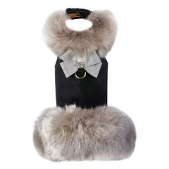 Soft Silver Fox Coat with Platinum Glitzerati Nouveau Bow - Bark Fifth Avenue