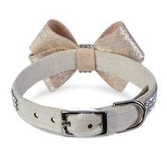 Champagne Glitzerati Nouveau Bow Collar - Bark Fifth Avenue