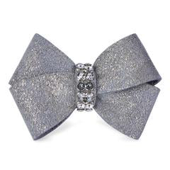 Platinum Glitzerati Nouveau Bow Hair Bow - Bark Fifth Avenue
