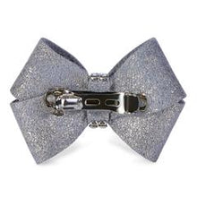 Load image into Gallery viewer, Platinum Glitzerati Nouveau Bow Hair Bow - Bark Fifth Avenue