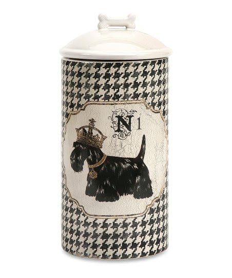 Scottie Dog Treat Ceramic Canister