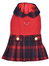 Load image into Gallery viewer, Scottish Pleated Dress, Red/Blue Plaid