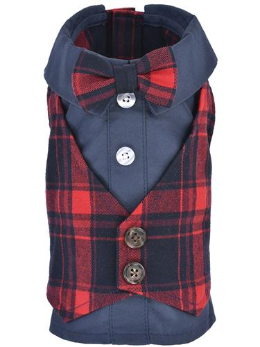 Scottish Tuxedo, Red/Blue Plaid