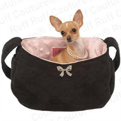 Snuggle Sack - Coco Bow with Pink Lining - Bark Fifth Avenue