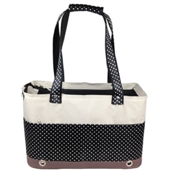 Fashion Tote Spotted Pet Carrier - Bark Fifth Avenue