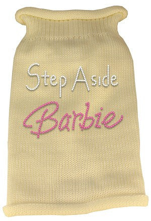Step Aside Barbie Rhinestone Knit Pet Sweater