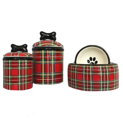 Stewart Plaid Ceramic Bowls