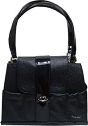 Black Ostrich Tami Elite Carrier - Bark Fifth Avenue