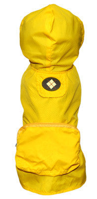 Yellow Argyle Pocket Fold Up Raincoat