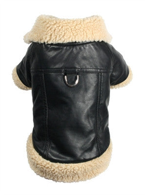 Classic Sherling Leatherette Coat