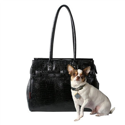 Croco Monaco Tote in Midnight - Bark Fifth Avenue