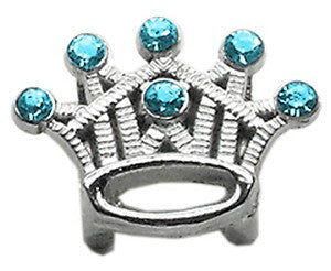 "3/8"" Slider Crystal Crown Charm - Bark Fifth Avenue"