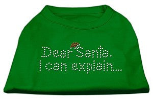 Dear Santa I Can Explain Rhinestone Shirt