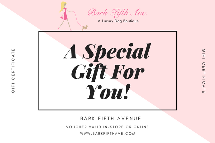 Bark Fifth Avenue Gift Certificate