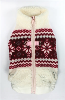 Soft Snowflake Fleece Vest