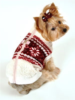 Soft Snowflake Fleece Vest - Bark Fifth Avenue
