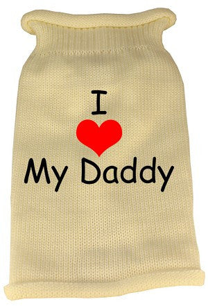 I Heart Daddy Screen Print Knit Pet Sweater