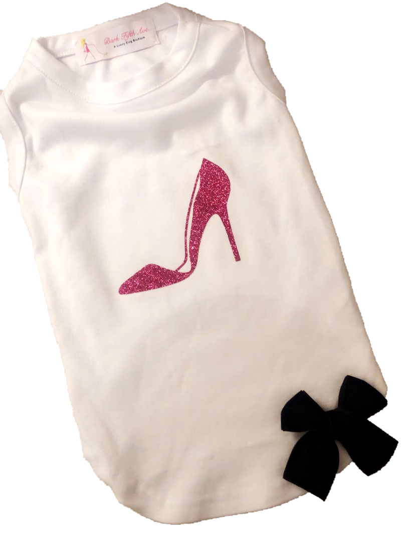 Stiletto Bow Tee - Bark Fifth Avenue
