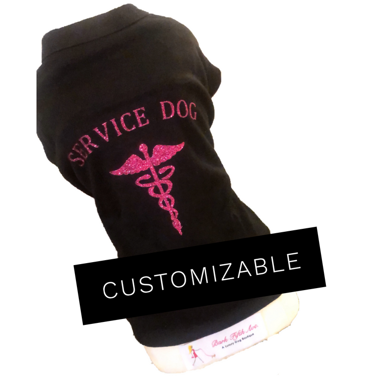 Service Dog Tee - Bark Fifth Avenue
