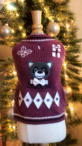 "Rascal ""cute"" Ugly Holiday Sweater"