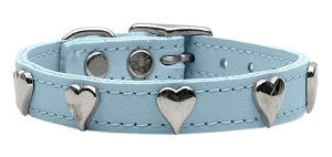 Genuine Leather Heart Collar
