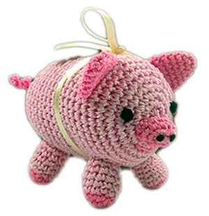 Knit Knacks Piggy Boo Organic Cotton Small Dog Toy - Bark Fifth Avenue