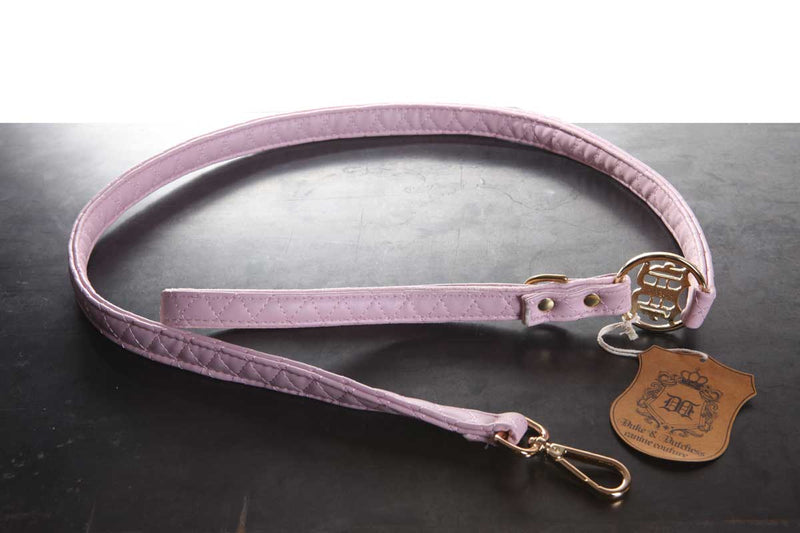 Pink Quilted Leash - Bark Fifth Avenue