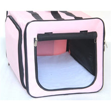 Load image into Gallery viewer, Capacious Dual-Expandable Wire Lightweight Collapsible Travel Pet Crate carrier - Bark Fifth Avenue