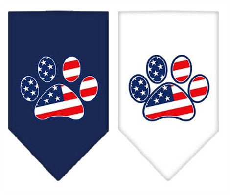 Patriotic Paw Screen Print Bandana