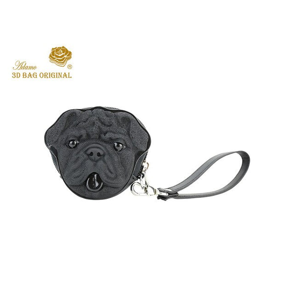 Original Bull Dog Coin Purse with Strap
