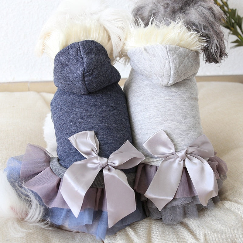 Luxury Fur Collar Dog Coat