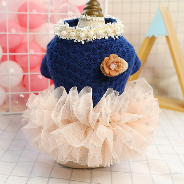 Navy Winter Princess Tutu Dress