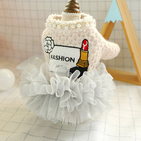 Beige Fashion Tutu Dress