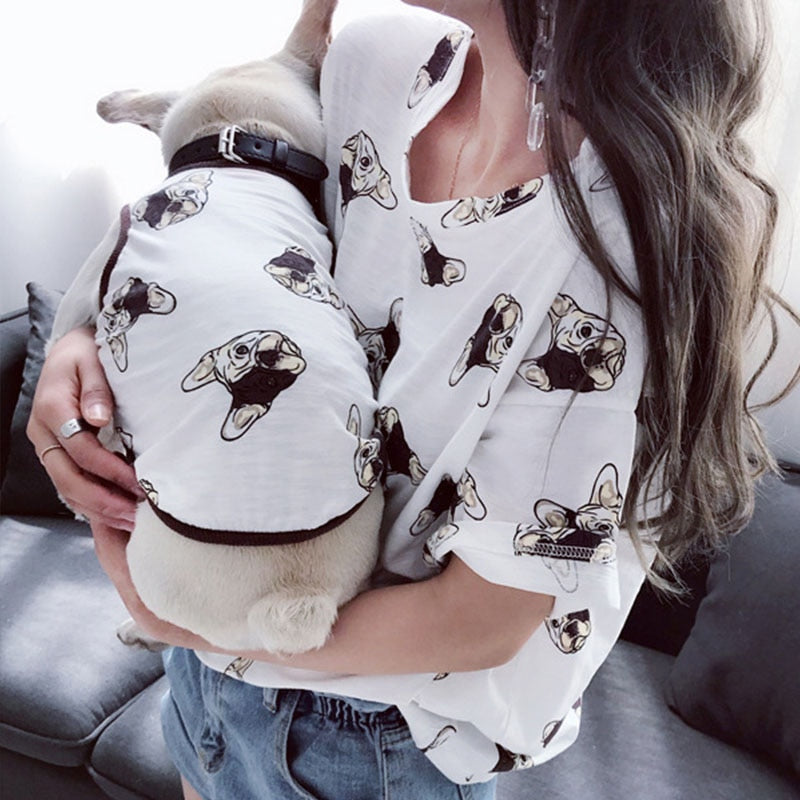Cotton Frenchie and Matching Mommy/Daddy Tee