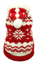 Load image into Gallery viewer, Red Super Soft Snowflake Hoodie - Bark Fifth Avenue
