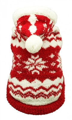 Red Super Soft Snowflake Hoodie - Bark Fifth Avenue