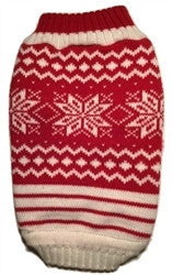 Snowflake Sweater Red/White