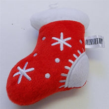 Load image into Gallery viewer, Christmas Stocking Booties Plush Toy with Squeaker - Bark Fifth Avenue
