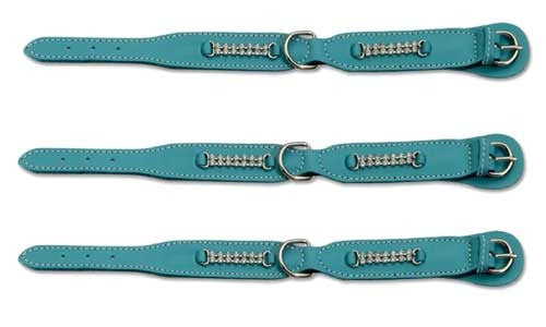 Light Blue Padded Collar with Strass Crystals