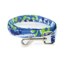 Load image into Gallery viewer, Surfboard Blue and Green Cool Mesh Dog Harness with Matching Leash - Bark Fifth Avenue