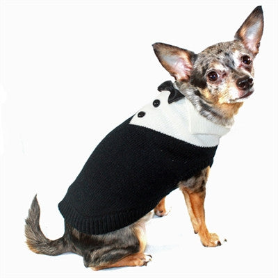 Black Tux Sweater - Bark Fifth Avenue