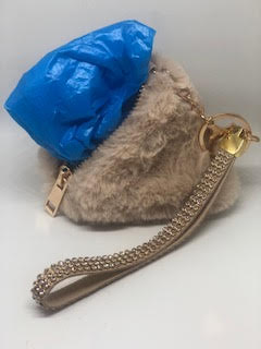 Faux Fur Triangle Waste Bag Dispenser