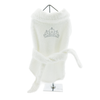 White Silver Tiara Cotton Dog Bathrobe - Bark Fifth Avenue