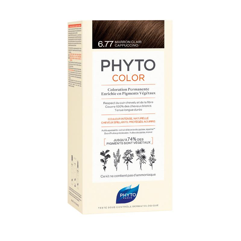 PHYTO COLOR 6.77 MARRON CLARO CAPPUCCINO