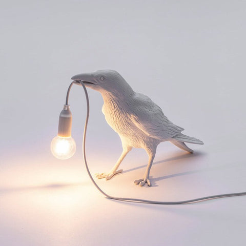 Lucky Bird Wall Lamp LED Lights with Plug Nordic Designer Resin Bedside Night Wall Lights Decoration Desk Table Lamps
