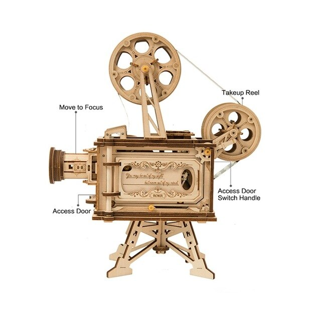 VINTAGE MECHANICAL FILM PROJECTOR