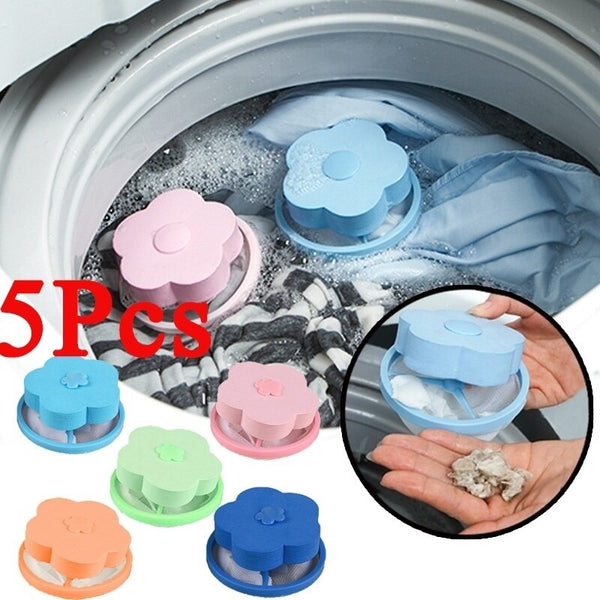 Washing Machine Floating Lint Filter Net Pouch