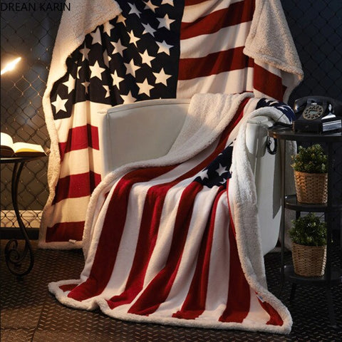 Limited Edition American Flag Blanket