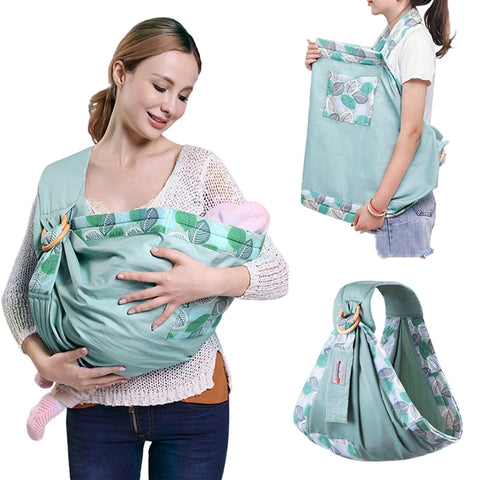Dual-use Baby Wrap Carrier and Nursing Wrap