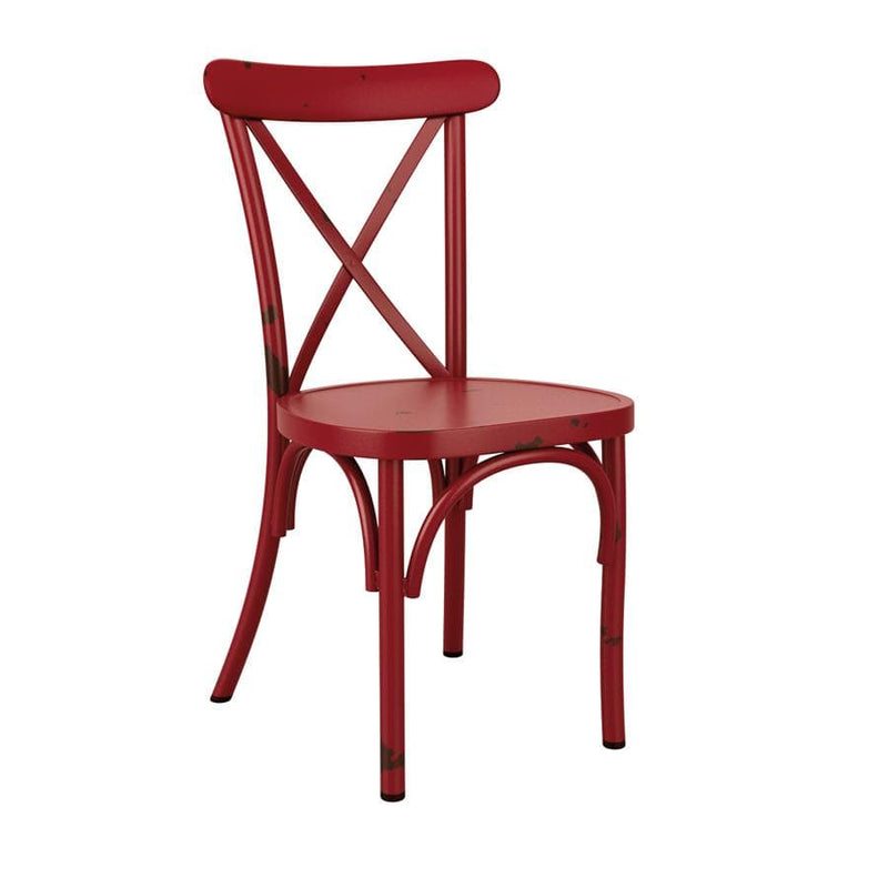 Cafe Cross Back Stacking Side Chair - Tables&Tops